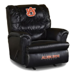 Auburn Tigers NCAA Big Daddy Leather Rocker Recliner