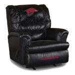 Arkansas Razorbacks NCAA Big Daddy Leather Rocker Recliner