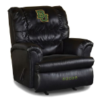 Baylor Bears NCAA Big Daddy Leather Rocker Recliner