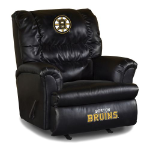 Boston Bruins NHL Big Daddy Leather Rocker Recliner