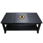 Boston Coffee Table with Bruins Logo - Reversible Insert