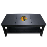 Chicago Coffee Table with Blackhawks Logo - Reversible Insert