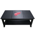 Detroit Coffee Table with Red Wings Logo - Reversible Insert