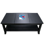 New York Coffee Table with Rangers Logo - Reversible Insert