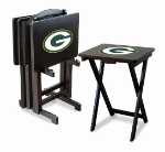 Green Bay Packers TV Snack Trays With Stand