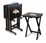 Denver Broncos TV Snack Trays With Stand