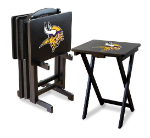 Minnesota Vikings TV Snack Trays With Stand
