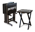 New England Patriots TV Snack Trays With Stand