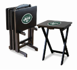 New York Jets TV Snack Trays With Stand