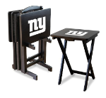 New York Giants TV Snack Trays With Stand