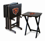 Chicago Bears TV Snack Trays With Stand