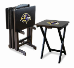 Baltimore Ravens TV Snack Trays With Stand