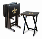 New Orleans Saints TV Snack Trays With Stand