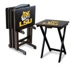 LSU Tigers NCAA TV Snack Trays With Stand