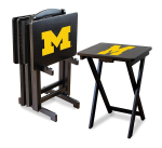 Michigan Wolverines NCAA TV Snack Trays With Stand