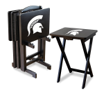 Michigan State Spartans NCAA TV Snack Trays With Stand