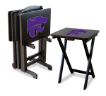 Kansas State Wildcats NCAA TV Snack Trays With Stand