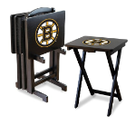 Boston Bruins NHL TV Snack Trays With Stand
