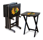 Chicago Blackhawks NHL TV Snack Trays With Stand