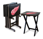 Detroit Red Wings NHL TV Snack Trays With Stand