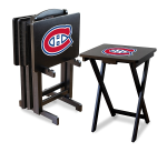 Montreal Canadiens NHL TV Snack Trays With Stand