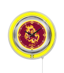 Arizona State Neon Clock w/ Sun Devils Logo - Double Ring