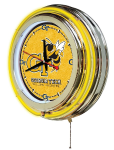 Georgia Tech Neon Clock w/ Yellow Jackets Logo - Double Ring