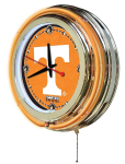Tennessee Neon Clock w/ Volunteers Logo - Double Ring