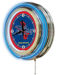 Tulsa Neon Clock w/ Golden Hurricanes Logo - Double Ring