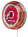 Utah Neon Clock w/ Utes Logo - Double Ring