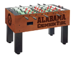 Alabama Foosball Table w/ Crimson Tide Logo - Chardonnay