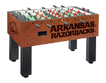 Arkansas Foosball Table w/ Razorbacks Logo - Chardonnay