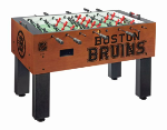 Boston Foosball Table w/ Bruins Logo - Chardonnay