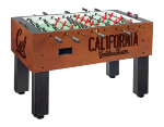 California Foosball Table w/ Golden Bears Logo - Chardonnay