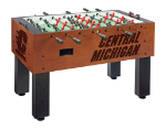Central Michigan Foosball Table w/ Chippewas Logo - Chardonnay