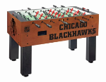Chicago Foosball Table w/ Blackhawks Logo - Chardonnay