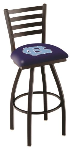 North Carolina Bar Stool w/ Tar Heels Logo Swivel Seat - L014