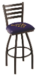 West Virginia Bar Stool w/ Mountaineers Logo Swivel Seat - L014
