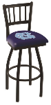 North Carolina Bar Stool w/ Tar Heels Logo Swivel Seat - L018