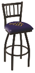 West Virginia Bar Stool w/ Mountaineers Logo Swivel Seat - L018