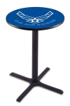 US Air Force Pub Table w/ Falcons Logo - L211