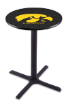 Iowa Pub Table w/ Hawkeyes Logo - L211