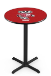 Wisconsin Pub Table w/  Bucky Badgers Logo - L211