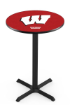 Wisconsin Pub Table w/ Badgers W Logo - L211