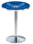 US Air Force L214 Chrome Pub Table