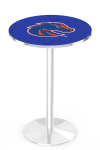 Boise State Broncos L214 Chrome Pub Table
