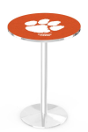 Clemson Tigers L214 Chrome Pub Table
