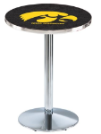Iowa Hawkeyes L214 Chrome Pub Table