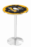 Pittsburgh Penguins L214 Chrome Pub Table