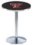 Texas Tech Red Raiders L214 Chrome Pub Table